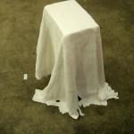 Tischdecke, freistehend, geschieden